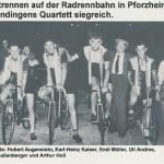 Siegerehrung beim Nachtrennen in Pforzheim