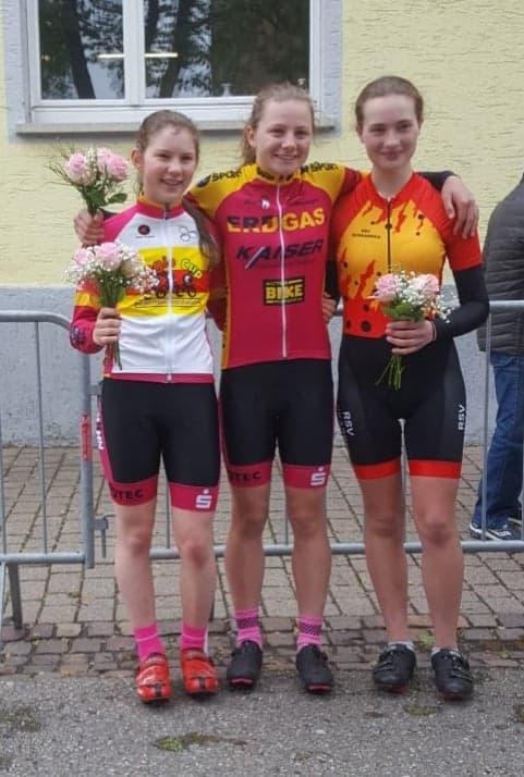 Lukretia Naldi, Leonie Boos und Charlotte Graner vom RSV Achkarren